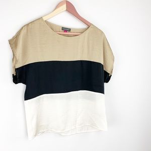 Vince Camuto color block blouse